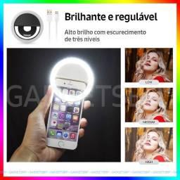Ring Light Luz Pra Selfie Fotos e Live Flash Celular Blogueiras Suporte Anel de Luz