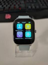 Relógio Inteligente P8 Pro Pulseira de Silicone 20mm Azul