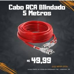 Cabo Rca 5 Metros Blindado Tech One 5mm