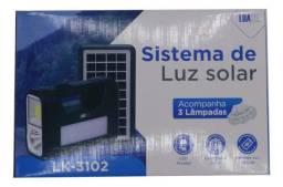 Título do anúncio: Kit placa solar portatil iluminação lanterna mais 3lampadas