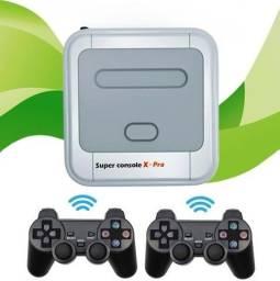 Super Console X Pro - Videogame Retrô 33.000 Jogos 64 Bits S/fio