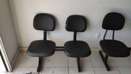 Cadeira longarina 3 e 2 lugares