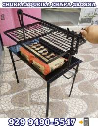 Título do anúncio:   churrasqueira mais resistente chapa grossa brinde 2 pacote Carvão entrega gratis @!!!