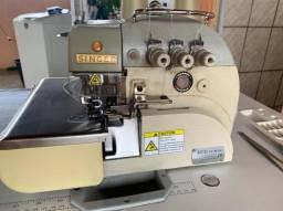 Máquina de costura overloque industrial singer