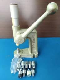 Máquina pressão pregar botões