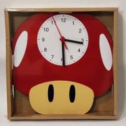Relógio de Parede Cogumelo Super Mário