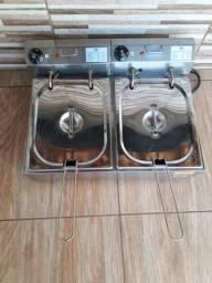 Fritadeira Elétrica IBET duas cuba