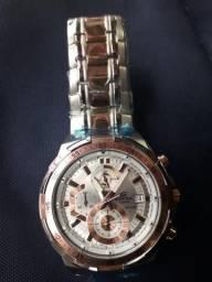 3da75ee1a62 Lindo Relógio Casio Edifice Prata Bordô