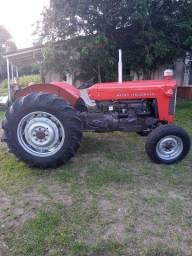 Trator Massey Fergunson 65 X / Carreta 1 Eixo