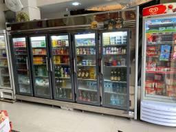 Expositor de frios e bebidas 5 portas - Geladeira , refrigerador