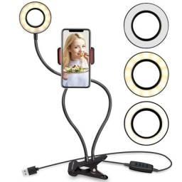 Iluminador Ring Light Live Suporte Articulado Celular smartphone Xc-rl-01 Flex