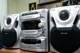 Sistem Panasonic 200w radio am/fm cds e toca fitas lindo impecavel