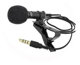 Microfone De Lapela Portátil Com Fio 3,5mm Youtubers