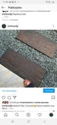 Parece mas não é: concreto que reproduz madeira. (Nós  vendemos as peças cruas)