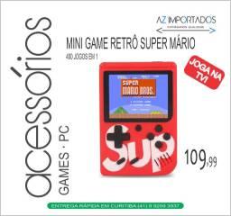 Mini Game Gamer Box 400 Jogos Retrô Nintendo 8 Bits Joga na TV Novo