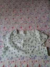 Blusa camisa manga curta