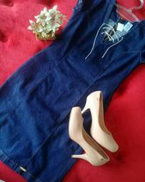 Vestido jeans com elastano M