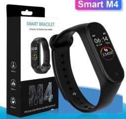 Smartband Pulseira Inteligente M4 Resistente a Agua Monitor Cardiaco