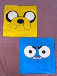 Conjunto Desenhos 10x10 Jake e Gumball