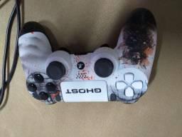 Controle personalizado PS4 / PC dash controles semi novo com n.fiscal