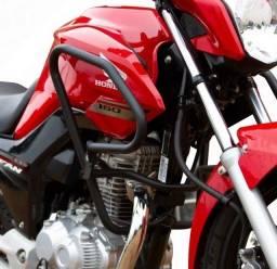 Protetor de Carenagem Titan Fan 150 160 ou Bros 125 150 160 Preto Fosco Moto Acessório<br>