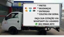 Frete Recife Olinda Jaboatão Paulista Abreu e Lima João Pessoa