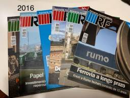 Revista Ferroviária - RF  Lote com Ano 77 completo  2016