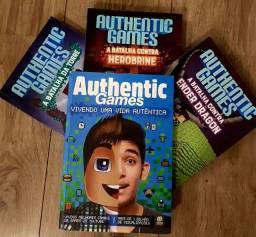Triologia Minecraft + Biografia e Jogo de Cama de Solteiro do AuthenticGames