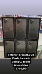 iPhone 11 Pro 256Gb Verde Novo Lacrado na caixa