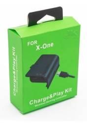 Kit Bateria + Carregador P Controle Xbox One Recarregavel