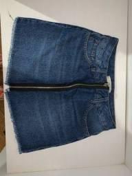 Saia jeans aquamar