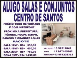 Título do anúncio: Salas Comerciais para Locação - Centro de Santos - Ótimo Local