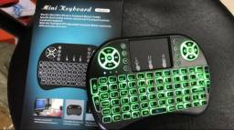 Mini Teclado Led Sem Fio Smart Tv Usb Pc Tv Box Iluminado