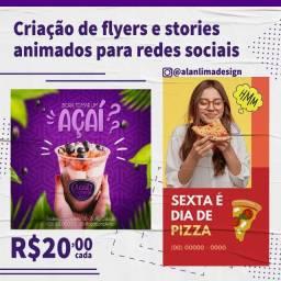 Flyer, Stories, Arte para Mídia Social