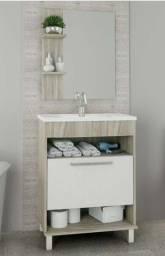 Kit para Banheiro Completo Armário + Cuba + Espelho