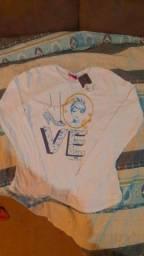Camiseta infantil princesas, tamanho 16