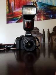 Título do anúncio: Kit Câmera Canon EOS Rebel T100