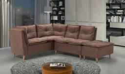 Sofa canto super luxo