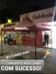 CONSERTO DE TENDA SANFONADA 2X2 E 3X3 ACEITO CARTÕES! ZAP 98333.6166