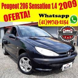 Peugeot 206 Sensation 1.4  2009 4 portas - Aceito Troca - Financio 100%