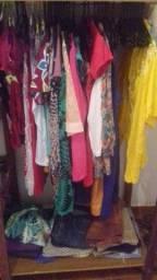 Lote de roupas novas e usadas