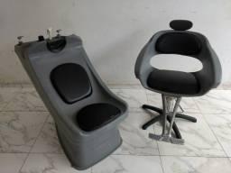 Título do anúncio: Cadeira e lavatório