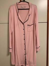 Título do anúncio: Camisola de botaão pós cirúrgica ou maternidade rosé