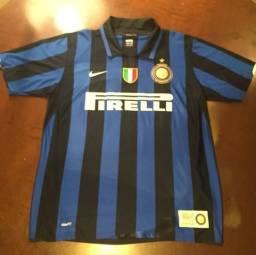 b2a76d5ad3 Camisa Centenário Inter de Milão - Adriano 10 Autografada