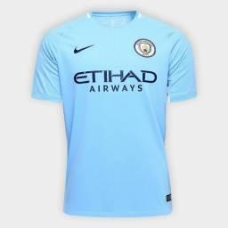 Liquidação Camisa Manchester City 17 18 Original 0582d44f8646a