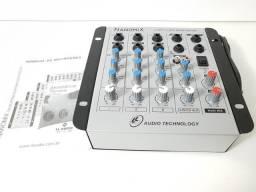 Mesa de Audio -Mixer Nanomix 4 Canais