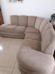 Vendo lindo sofá em L de madeira