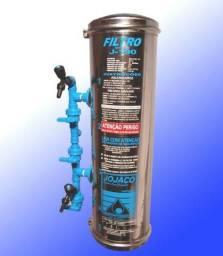 Filtro água aço inox 1000l/h para residências e máquinas de açai - Parcelo no boleto
