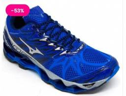 Tênis Mizuno Wave Prophecy 7 Azul Royal e Cinza