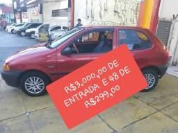 Fiat palio entrada de 3000 e 48 de 299 - 1996